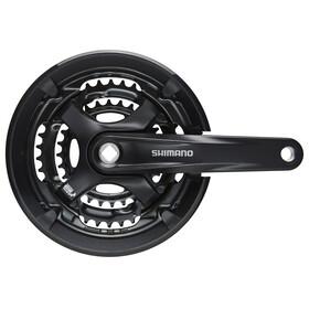 Shimano Tourney FC-TY701 Zwengel Vierkant 6/7/8-speed, 48-38-28 tanden zwart